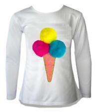 T-shirts et débardeurs à col rond manches longues pour fille de 9 à 10 ans