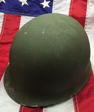 WW 2 WWII M-1 Helmet Shell Swivel Bails Rear Seam 641 Missing Liner & Chinstrap