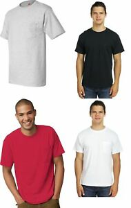 Hanes Men's Pocket T-shirts 3-PACK 50/50 ComfortBlend EcoSmart Pocket Tee