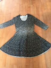 CARMEN Marc Valvo Women's Black And White Metallic Pattern Dress Size L