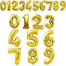 """40"""" Gold Giant Foil Balloons Number Shape Helium Wedding Birthday Party Decor"""