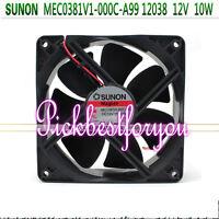 SUNON MEC0381V1-000C-A99 cooling fan DC12V 10W 120*120*38mm 2wire #M4495 QL kc1