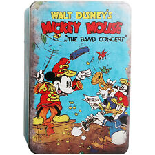 Small Mickey Mouse The Band Concert Metal Tin Storage Box Container Organiser