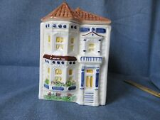 Vintage Avon Representative Townhouse Canister Jar House Hand Painted Brazil