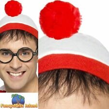 Where's Wally? Instant Kit Hat Glasses Wenda Waldo Mens Fancy Dress Costume