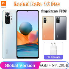 6.67'' Xiaomi Redmi Note 10 Pro Snapdragon 732G 64GB / 128GB Fast Charging Phone