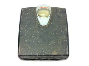 Vintage Used Detecto Bathroom Scale Metal Bubble Glass Deco Style Black Parts