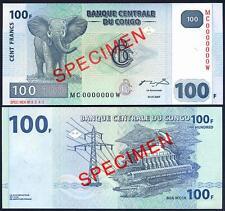 CONGO DEMOCRATIC 100 Francs 31.07. 2007 SPECIMEN UNC P 98A