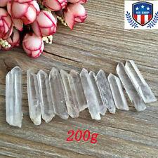 Wholesale 200g BULK Small Points Clear Quartz Crystal Healing Reiki Mineral Wand
