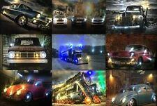 LED - Bild mit Beleuchtung Wandbilder Leinwandbild led leucht bild Autos US Cars