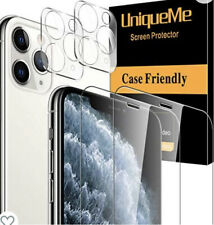 UniqueMe 2Tempered Glass Screen + 2Camera Lens Protector For iPhone 11 Pro Max