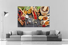 HERBS & SPICES HERBES ET EPICES  Wall Art Poster Grand format A0 Large Print