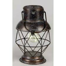 Deko Lampe, Laterne WILI TOBAGO mit Licht H. 29cm antikbraun Metall Formano WA
