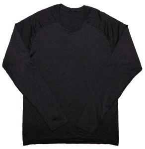 LULULEMON Men's Long Sleeve Athletic Shirt Black Medium M
