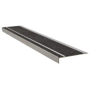 WOOSTER 365BLA4 Stair Tread,Black,48in W,Extruded Alum