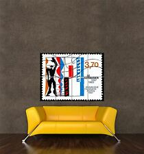 POSTER PRINT GIANT POSTAGE STAMP FRANCE CENTENARY LE CORBUSIER DESIGNER PAMP274