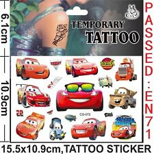 DISNEY CARS ,  MCQUEEN,  Temporary Body Tattoo Stickers Party Favors Gift