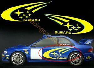 rally Side Door Decal Sticker for GC8 impreza WRC wrx team world 22B r type 555