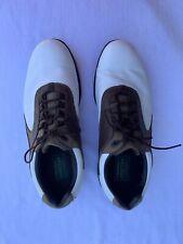 Footjoy Contour Golf Shoes 11.5 M Brown On White