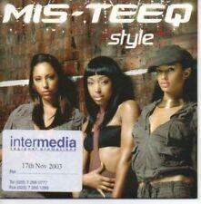 (AH159) Mis-Teeq, Style - DJ CD