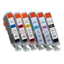 6*New Canon CLI-8 BK C M Y PC PM Ink Cartridge W/ CHIP CLI-8C CLI8M CLI-8Y CLI-8