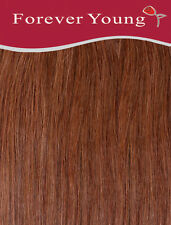 Forever Young 16-inch Long Auburn Brown Number 33 Ladies Half Head Clip in Human