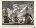 BATTLE of CAPE FINISTERRE 1747 Maritime Fine Art Print Royal Navy Spoils of War