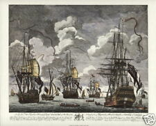 BATTLE of CAPE FINISTERRE 1747 Maritime Fine Art Print  Royal Navy Spoils of War