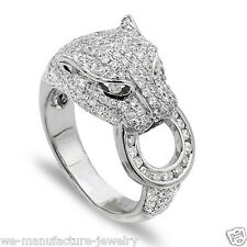 Exotic 2.50 Carat Panther Diamond Ring One-of-a-kind Made with 14K White Gold
