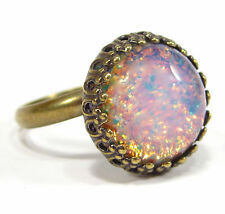 SoHo® Ring vintage bohemia cabochon fireopal handgemachter japanischer Glasstein