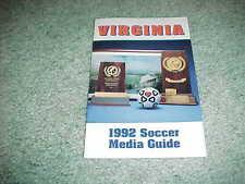 1992 Virginia Cavaliers Soccer Media Guide