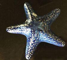 "Ceramic Blue Sea Star Wall Decoration 7"" Diameter"