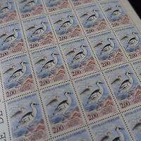 FEUILLE SHEET TIMBRE OISEAUX CANARD HARLE PIETTE N°2785 x30 1993 NEUF** LUXE MNH