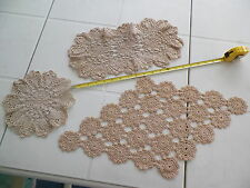 LOT OF 3 VNTG IRISH CROCHET DOILIES