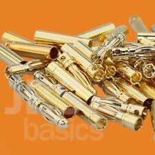 ► 20 Stück (10 Paar) 4mm Goldstecker Goldkontaktstecker Lipo Akku LRP Graupner