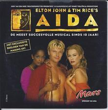 ELTON JOHN & TIM RICE - Aida DUTCH PROMO CD SINGLE 2TR Enh (BASTIAAN RAGAS) 2002