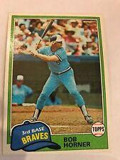 1981 Topps Bob Horner Atlanta Braves #355