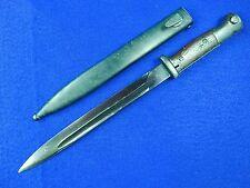German Germany WW2 Mauser K98 Police Bayonet Fighting Knife w/ Army Scabbard