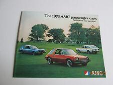 1976 AMC passenger cars...Built with you in mind dealer brochure