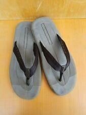 Prada Men's Gray/Black Sandals Thongs Flip Flops Made In Italy Sz. 12,5-W.