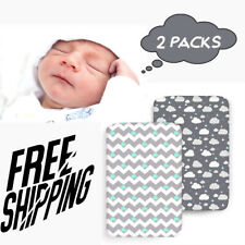 Baby Sheets 2Pcs Nursery Bed Mattress Covers Fitted Stretch Microfiber Crib Set