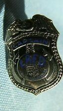 City Of Los Angeles Fire Department Small Size Captain's Badge-Blue Enamel