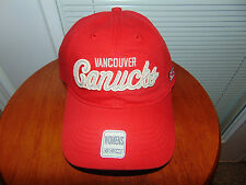 2015 MODEL Womens CCM VANCOUVER CANUCKS RED NHL Hockey Hat Cap Ladies Brand NEW