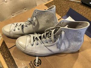 New Mens 10 Converse CTAS Hi Laser Tech Pure Silver Mouse Grey Shoes 155183C
