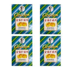 4 x Golden Herbal Drops 12 pk Cough and Sore Throat Relief Tablet (Jin Sang Zi)