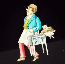 More details for mutton pies and cats antique mechanical magic lantern slip slide 1890