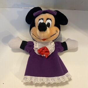 Vintage Disneyland Walt Disney World Land Minnie Mouse Hand Puppet Plush