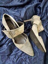 """Zapatos de Cuero UK3 euro 36 Xoxo diseñador de moda Gamuza papel prensa Tacones De 3"""""""