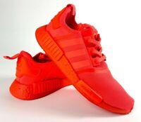 Adidas Mens NMD R1 Boost Sneakers Solar Red Lace Up Mesh Breathable S31507 11.5