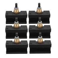 6PCS Mini Lathe Quick Change Post Mill Tool Holder CCMT TCMT Milling Insert